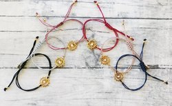 Evil Eye Gold Plated Elegant Style Trendy Hot Fashionable Thread Bracelet