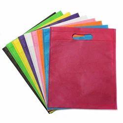 Multicolor Plain Non Woven Fabric Bag, For Shopping