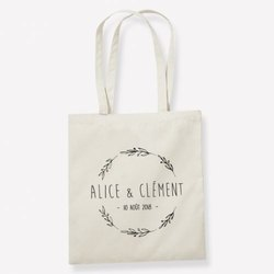 Printed Loop Handle Organic Cotton Shopping Bag, Capacity: 5 Liter