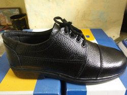 Black Vikash Varun Leather Lebar Safety Shoe Steel Toy, Size: 6 7 8 9 10