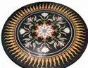 Pietre Dure Marble Table Tops,Mixed Round Marble Inlay Table