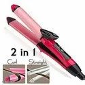 2 in 1 Hair Straightener and Curler with Ceramic Plate