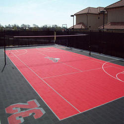 Outdoor Volleyball Court Flooring Service