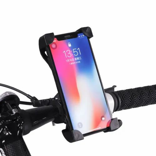 BS-02 Universal Bike Phone Mount Holder, Adjustable Bicycle Cell Phone Holder Cradle Stand