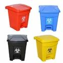 HDPE 15 Litre Set Of Biomedical Waste Bin