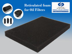 Reticulated Foam For Oil Filters