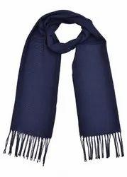 Plain Navy Blue Woolen Mufflers