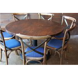 Round Restaurant Table with Chair