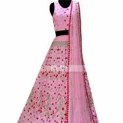 Exclusive Latest Designer Wedding Pink Lahenga Choli