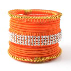 Indian Fashion Colorful Exquisite Silk Thread Bangles