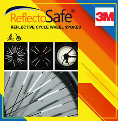 Reflective Safety Cycle Wheel Spokes with 3M Scotchlite Technology