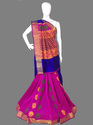 Designer Resham Embroidery Work Handloom Silk Saree