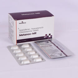Aceclofenac 100mg  Paracetamol 325mg  Chlorzoxazone  250mg