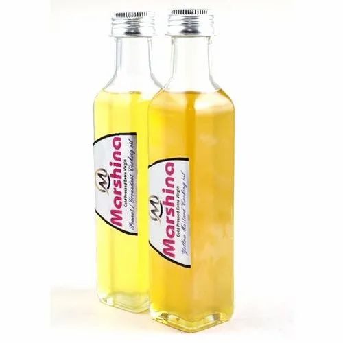 Marshina Yellow Mustard and Peanut Oil Combo Pack, Packaging Size: 1 Liter