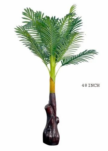 Plastic 48 Inch Artificial Palm Tree, For Decoration