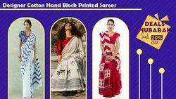 Designer Cotton Hand Back Sarees
