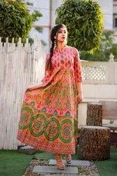 Women Cotton Anarkali Kurtis