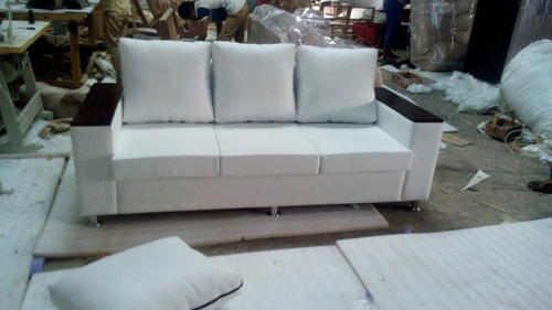 Polyester 3 Seater Sofa With Wooden Handle Rs 13350 Piece Id