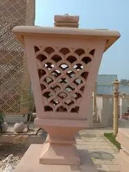 RED SANDSTONE LAMP