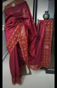 Cut Work Embroidery On Pure Tussar Silk Saree