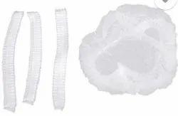 Non Woven White Bouffant Cap, Size: Free Size