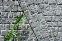 Ashlar Basalt Stone Wall With Rockface Finish And Wide Joints (rustic)
