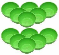 MEHUL Fiber Small Plastic Bowl Set - Green
