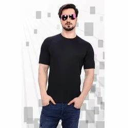 Half Sleeves Mens Polyester Sports T Shirt