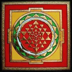 Sri Chakra Tanjore Painting