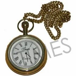 Analog Brass Made Gold Plated Pocket Watch