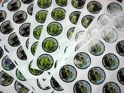 White Printed Sticker, Packaging Type: Roll
