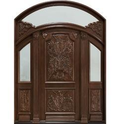Exterior Wooden Carved Door