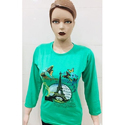 Ladies Green Casual Top