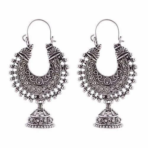 Silver Chandbali Earring
