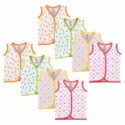 Infants Girls and Boys Cotton Blend Vest