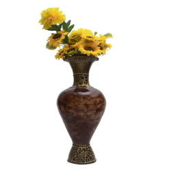 Glori Fyi Brown Antique Handcrafted Vase