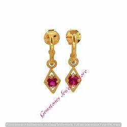 Pink Cz Gemstone Earring