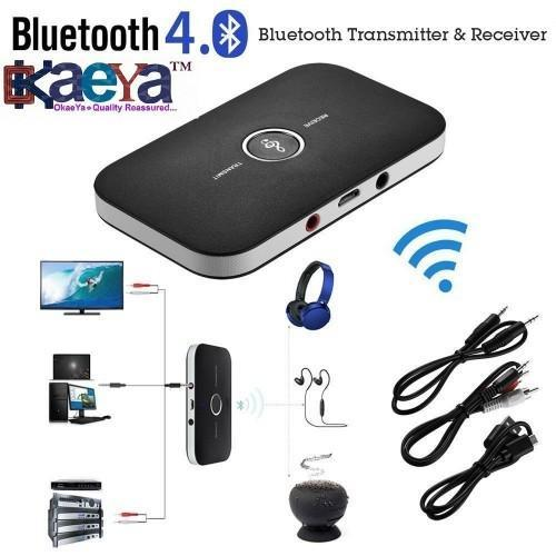 Okaeya Wireless Stereo Audio Music Bluetooth Transmitter Receiver Adapter