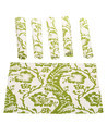 Cotton Floral Print Dining Table Place Mat Set of 5