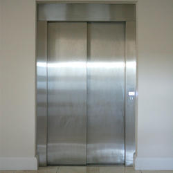 Side opening Agosto Mild Steel Elevator Door, Telescopic