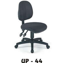 UP Furniture Adjustable Hight Arm Less Black Revolving Chair, Warranty: 1 Year
