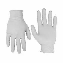 White Latex Disposable Medical Glove, Sizes: 7 inches