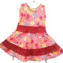 Party Wear Pink Cotton Frock
