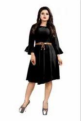 Designer Western American Crepe Dress