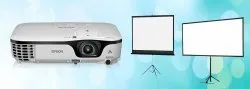 White LCD Projector On Rent, Brightness: 2000-4000 Lumens