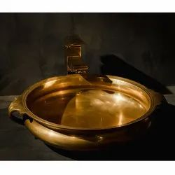 Brass Capstona Golden Calicanto Wash Basin, For Home