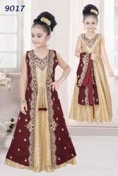Stonework embroidery anarkali design for Girls