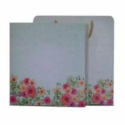 Art Paper 10X10 Inch Birthday Invitation Card, Size: 10 X10 Inch