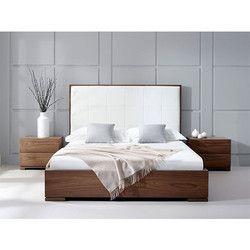 Dark Brown Wooden Bed