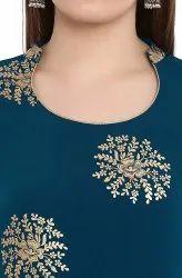 Rayon Gold Printed Kurti Fabric
